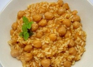 Arroz con garbanzos con Thermomix